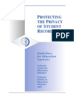 Protecting the privacy of student records