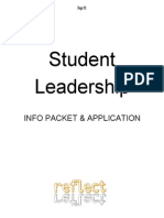 Student Leadership Info Packet Application