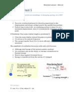 Physics - Unit 5 Other Topics