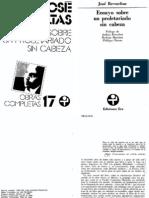 Ensayo Sobre Un Proletariado Sin Cabeza - Jose Revueltas