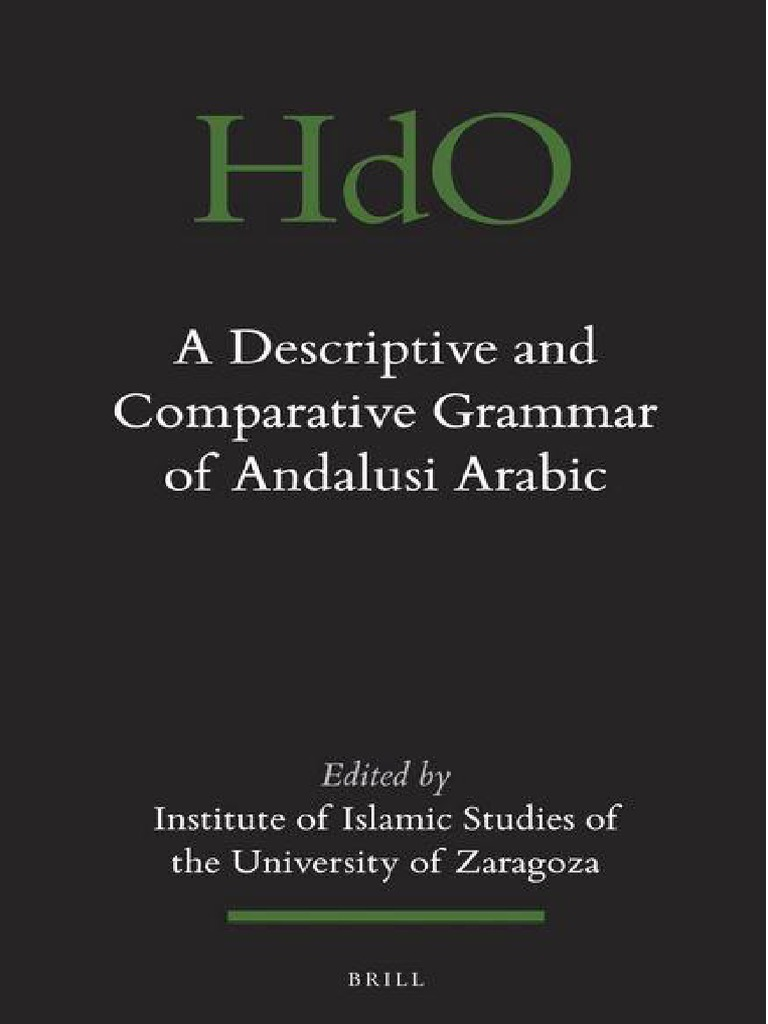A Descriptive and Comparative Grammar of Andalusi Arabic   Arabic   Phoneme