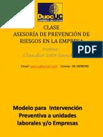03 Clases DUOC Modelo Para Intervención Preventiva a Unidades Laborales Yo Empresas