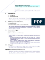 (research plan) Projet de Recherche pour Master