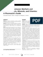 Interactions Between Warfarin and Herb