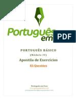 Apostila de Exercicios - Portugues Basico Modulo IV