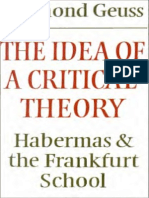 Geuss, Raymond - Idea Critical Theory