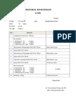 Protokol Kemoterapi Tn. Iwan