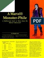 Frankenstein's Monster, Living Mummy, Werewolf