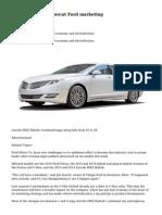 MPG revisions undercut Ford marketing