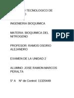 Examen Bioquimica Unidad 2