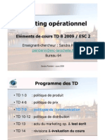 Eléments de cours Marketing Op. ESC2-TD8