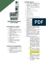 Instrucciones Temporizador Digital Armario Steelnet