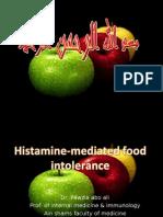 Histamine Mediated Food Intlerance