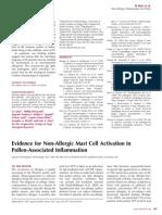 Non-Allergic Inflammation by Pollen