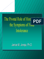The Pivotal Role of Histamine in the Symptoms of Food Intolerance