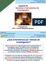 Capitulo III MetodosTecnicasInstrumentosInvestigacion 2013
