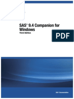 SAS® 9.4 Companion for Windows