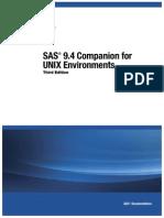 SAS® 9.4 Companion for UNIX EnvironmentsThird EditionSAS
