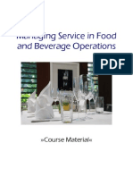 Managing Service in Food and Beverage Operations 50(3)