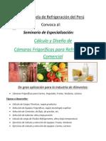 Seminario Cálculo y Diseño Cámaras Frigoríficas Refrigeración Comercial