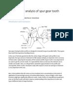 2D FEM AnalysisOf SpurGearTooth
