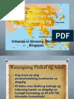 Katangiang Pisikal Ng Asya