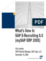 What's New in SAP E-Recruiting 6.00