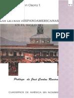 Las Letras Hispanoamericanas en El Siglo XIX. Nelson Osorio