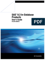 SAS® 9.3 In-Database ProductsUser's Guide