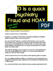 ADHD is a quack psychiatry Fraud and HOAX