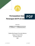 Permasalah EKTP-Canggih Pramono Gultom