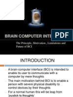The Principle, Motivation , Limitations and Future of BCI ( PPT )