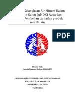 Pengaruh Kelangkaan Air Minum Dalam Kemasaan Galon (AMDK) Aqua - Canggih Pramono