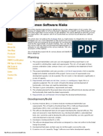 Aceit PMP Exam Prep - Risks Common to Most Software Projects