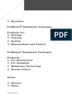 Prominent Equipment Catalogue 2011