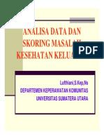 Pks 123 Slide Analisa Data Dan Skoring Masalah Kesehatan Keluarga