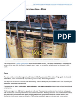 Power Transformer Construction Core