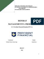 Managementul Productiei - Sc Provident Srl