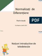 Indici Normalizati de Diferentiere Cluj Aprilie2012 Florin Iosub