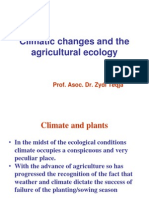 Agricultural Ecology and Climate Changes