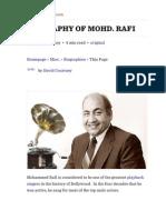 Biography of Mohd. Rafi — Chandrakantha