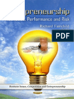 Entrepreneurship Motivation Performance and Risk Business Issues Compe