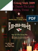 Christmas Program Poster - Dec 5, 2009