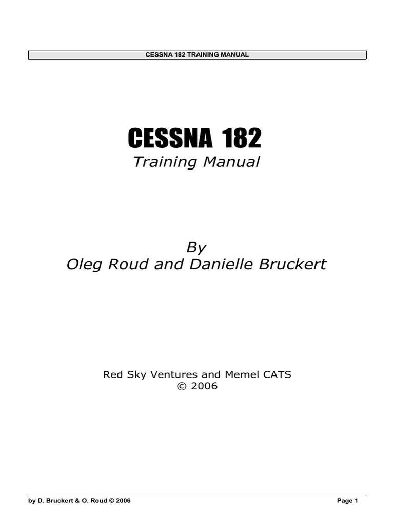 Cessna 182 Manual | Aileron | Flight Control Surfaces