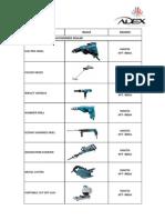 Adex-list of Itms 2014