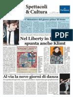 Rassegna stampa manifestazioni culturali Liberty