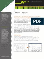Datasheet SimSci DynsimCheckoutSoftware 08-10