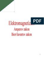 Elektromagnetizam - BiotSavartov i Amperov Zakon