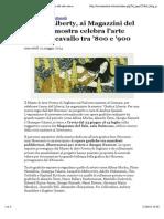 Cervianotizie.it - Grafica Liberty, Ai Magazzini Del Sale Una Mostra Celebra l'Arte Grafica a Cavallo Tra '800 e '900