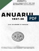 Bcu Cluj Anuarul 1937-1938